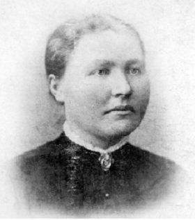 """Amalie Jakobsdatter (f 1861) g.m. Ole fra Drange. """"Moster Malia"""""""