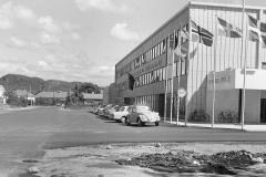 Rutebilstasjonen i Lyngdal 4. juli 1964.